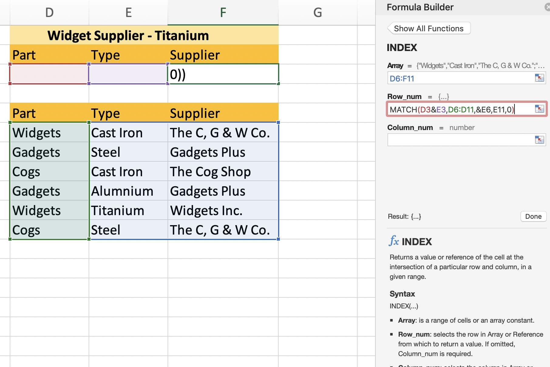 How To Create An Excel Lookup Formula With Multiple Criteria