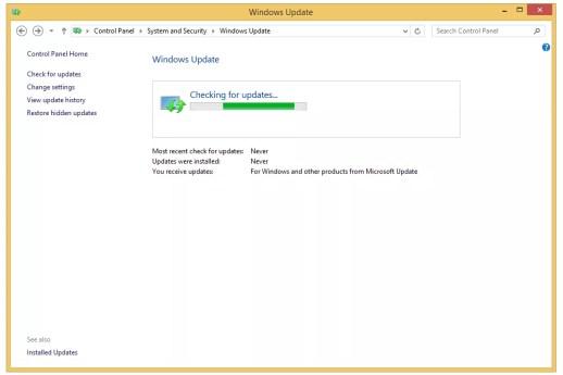 Windows Update in Windows 8