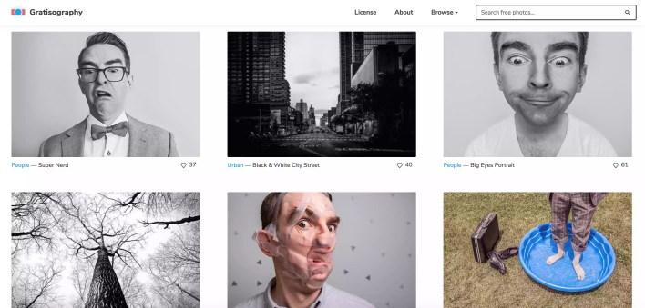 لقطة شاشة من Gratisography.com.