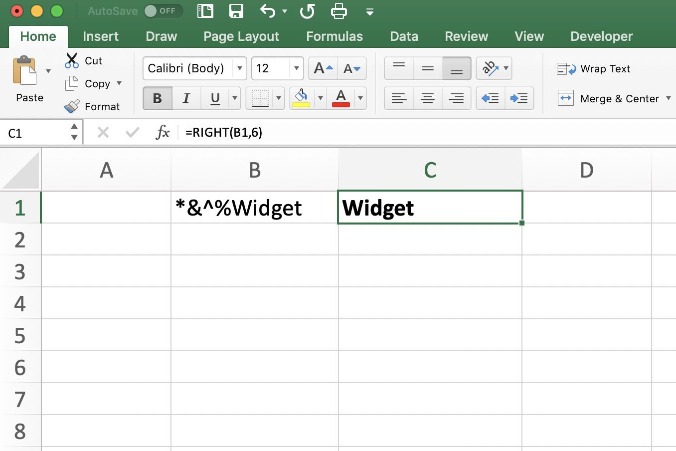 Using The Excel Right Function To Extract Characters
