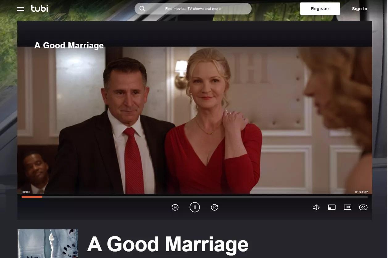 A Good Marriage free movie stream on Tubi