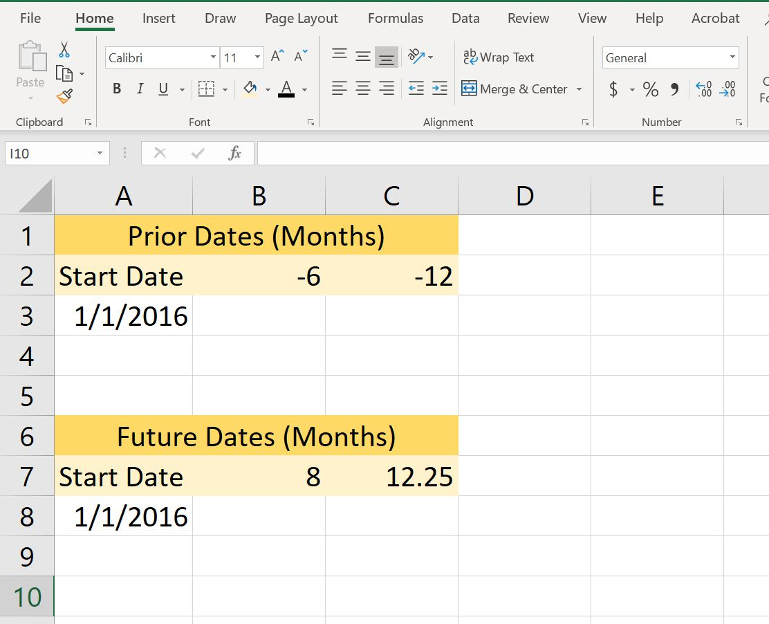 Use Excel S Eomonth Function To Add Or Subtract Months