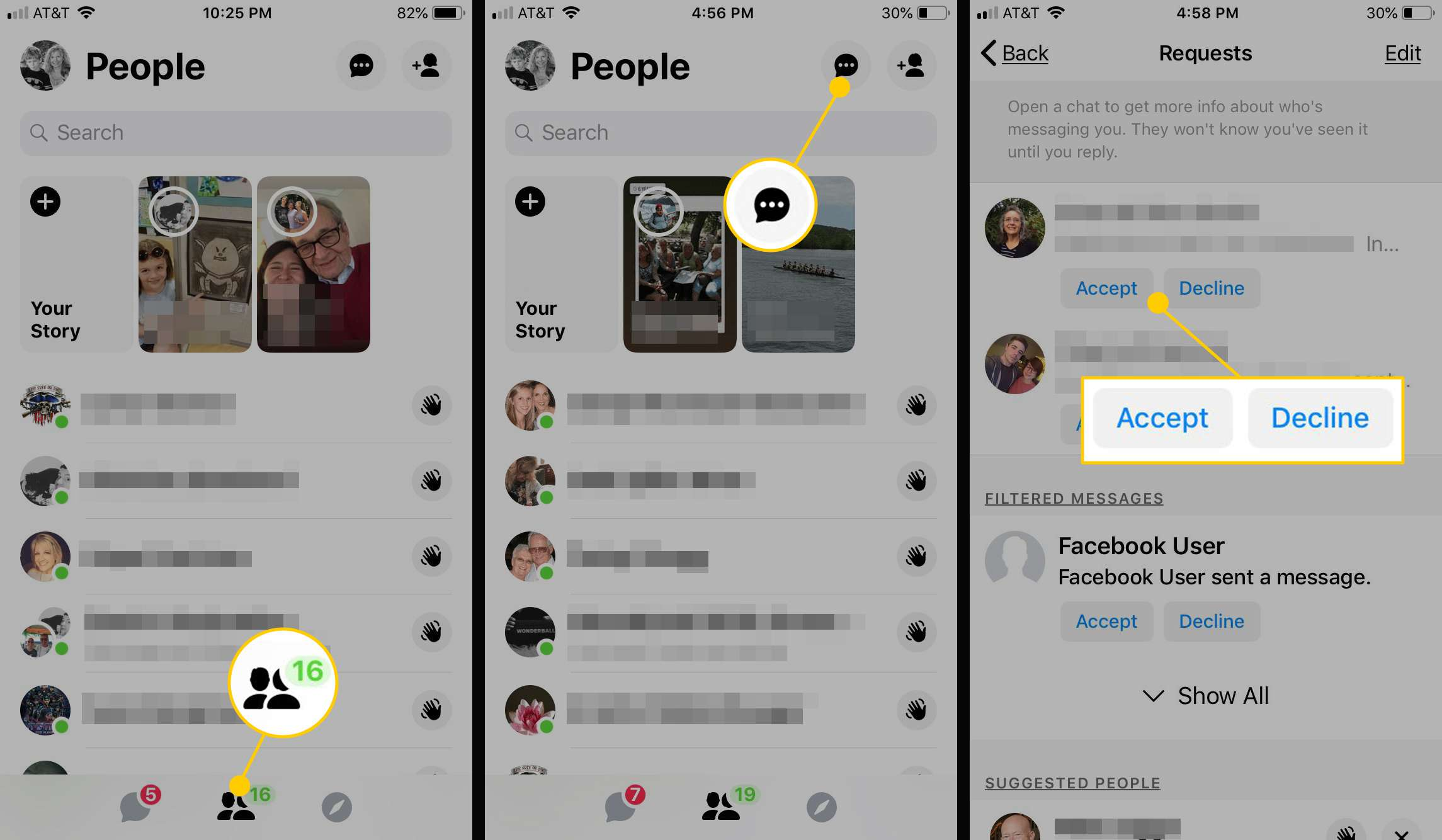 How To Unhide Messages On Facebook Messenger App