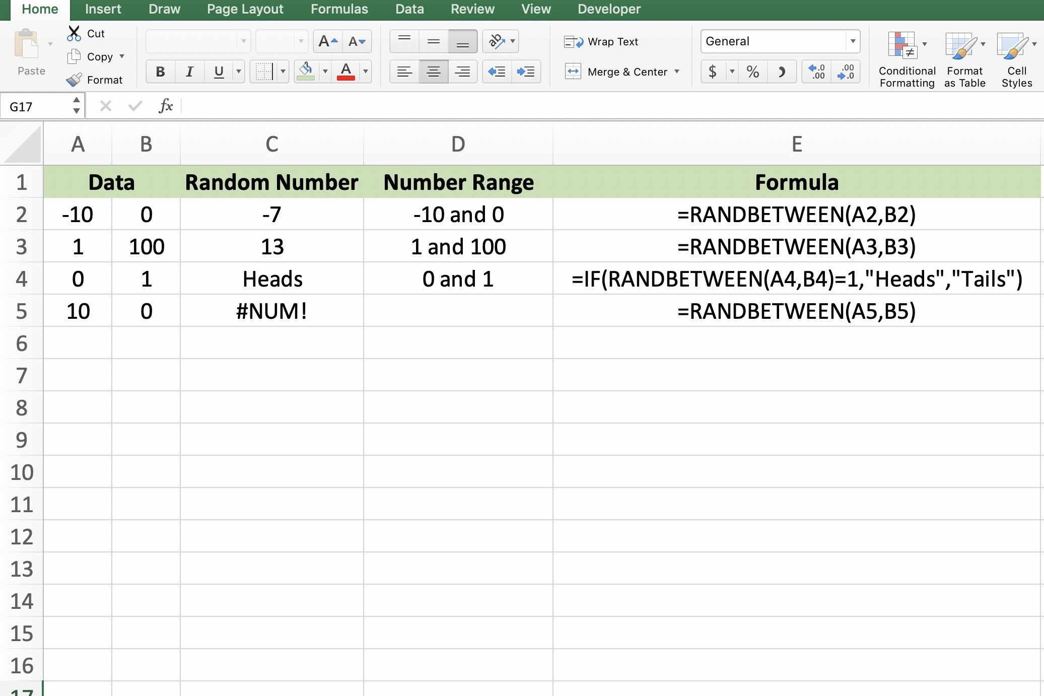 Randbetween To Create Random Number Generator In Excel