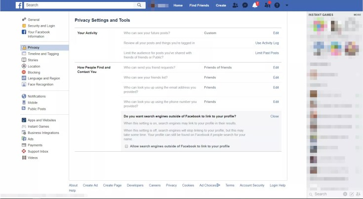 How to Make Yourself Hidden From Facebook Search