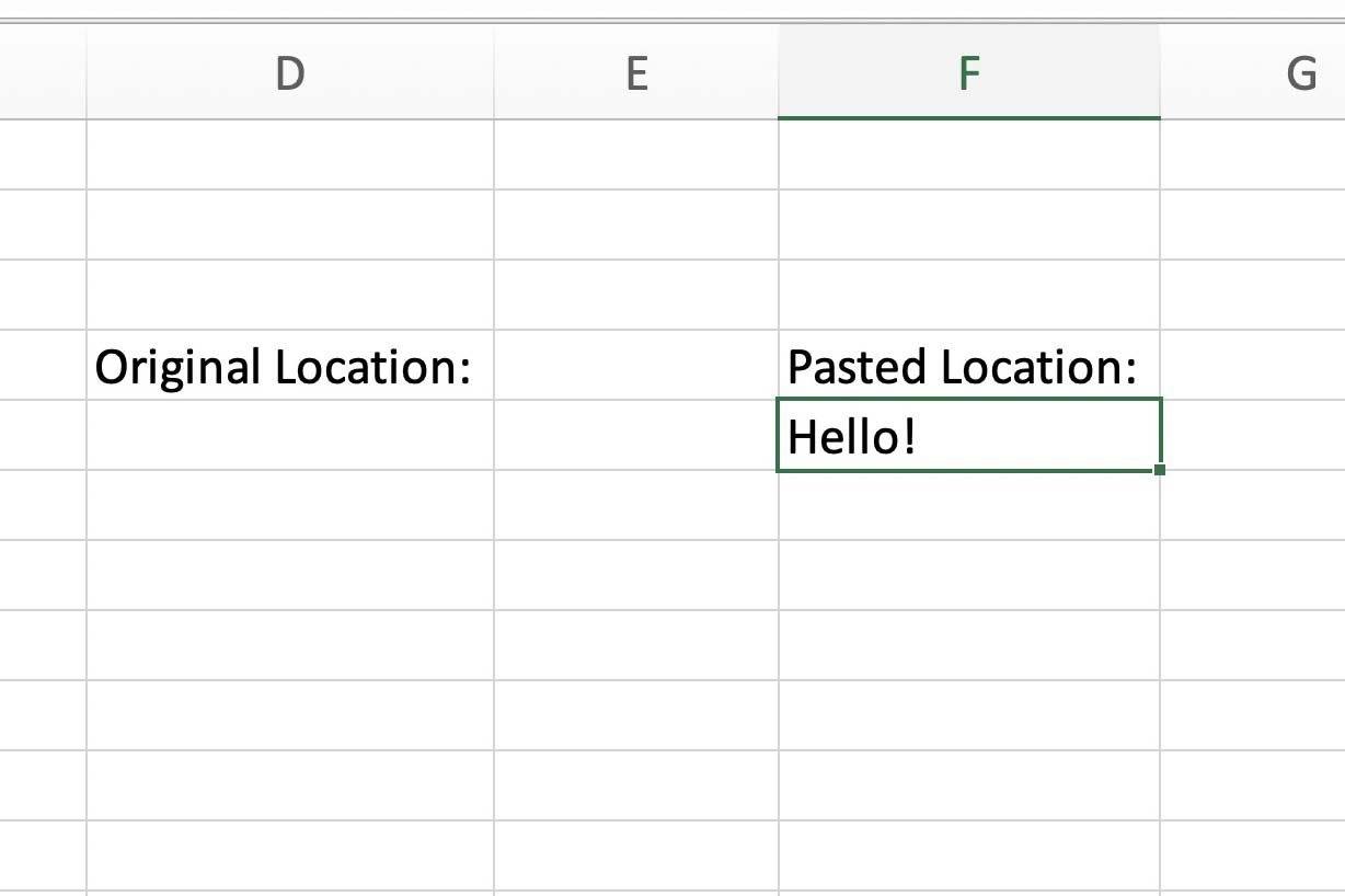 Cut Copy And Paste Data In Excel With Shortcut Keys