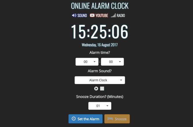 7 Free Online Alarm Clocks To Get You Up