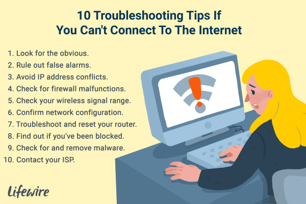 Can't Connect to the Internet? These 10 Tips Can Help