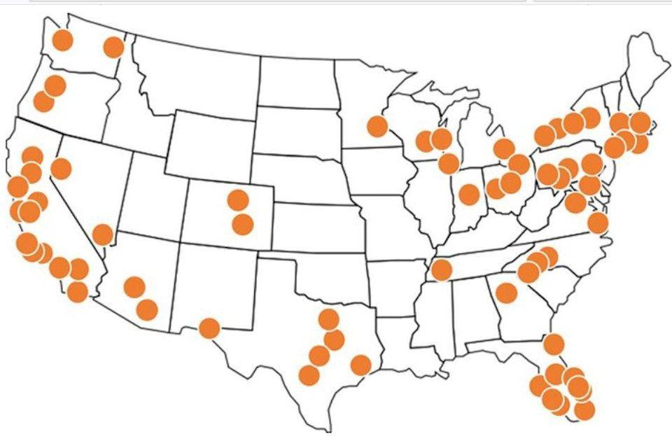Image result for amazon hub locker map us