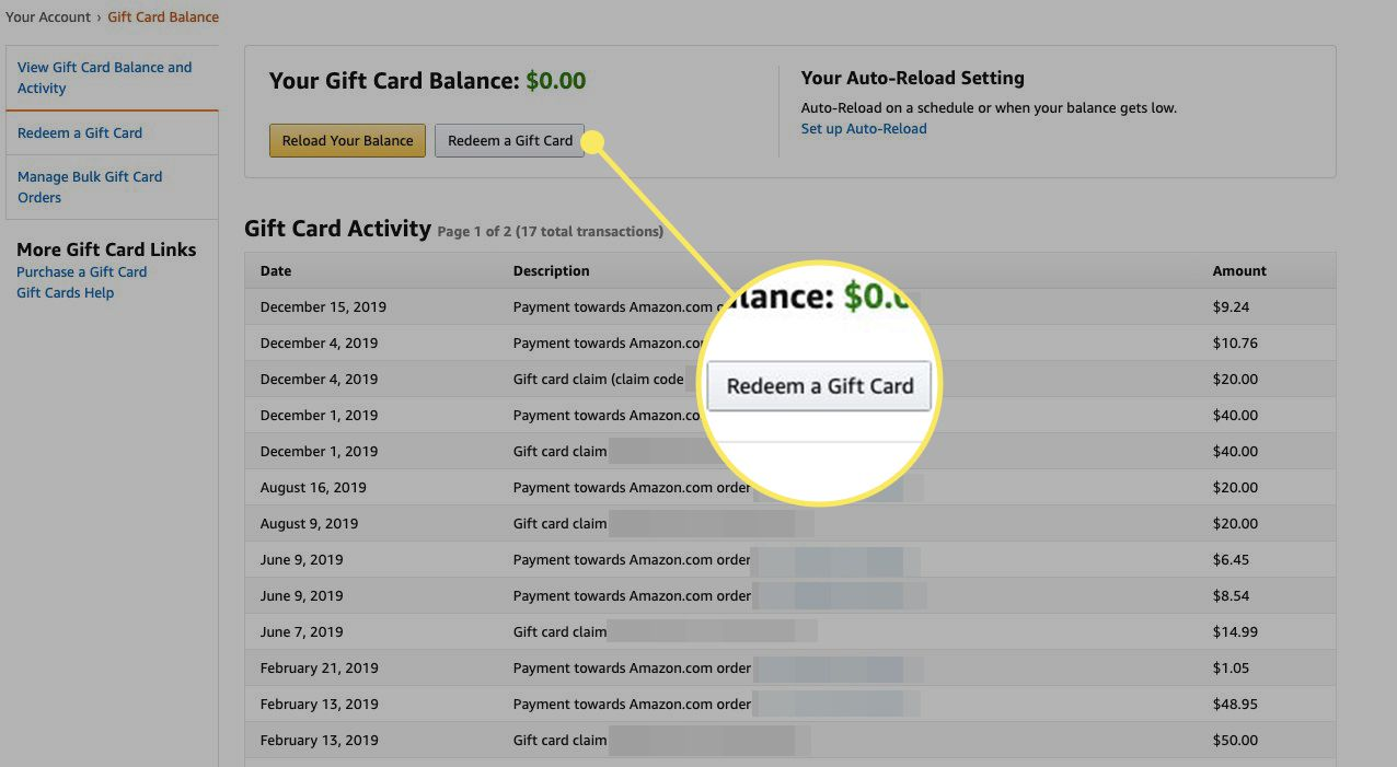 Here's how to use those gift cards. How To Redeem Amazon Gift Cards