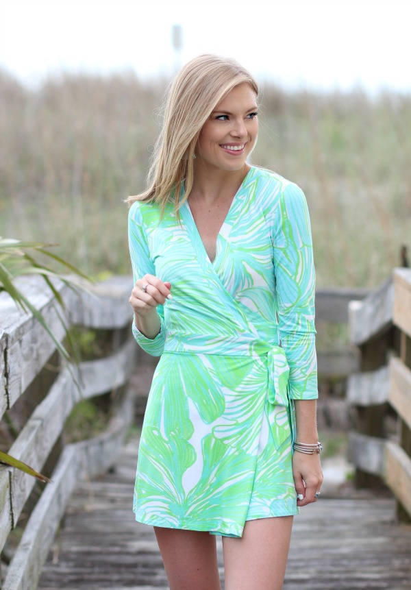 Summer In Lilly Pulitzer Karlie Wrap Romper Life With Emily