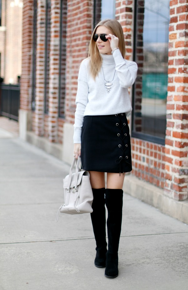 chic wish-lace-up-skirt