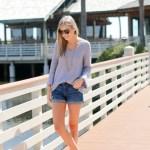 Purple Bell Sleeve Sweater
