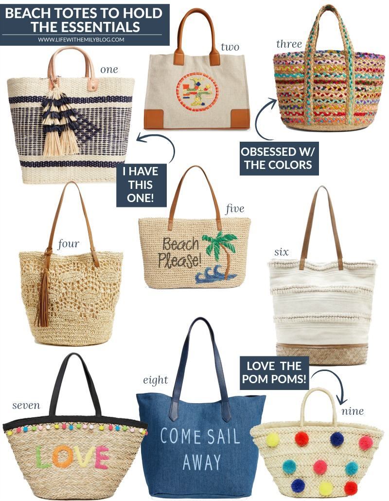 BEACH TOTES FOR SUMMER
