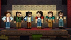 Minecraft Story Mode character selection screen