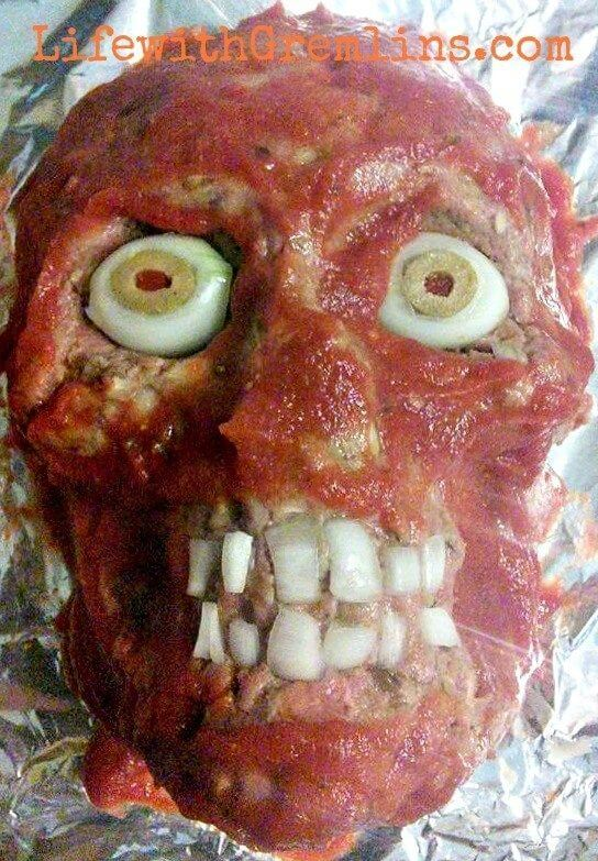 Halloween Party Ideas Meatloaf Head Recipe