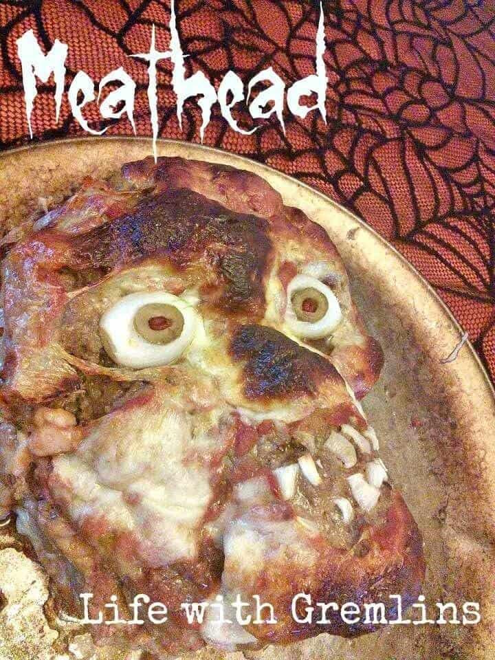 Halloween Meatloaf Head