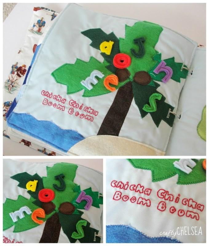 Chicka Chicka Boom Boom quiet book page
