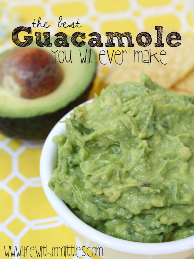 Seriously the best guacamole recipe ever. I think it's the reason we get invited to parties! And it's so easy!