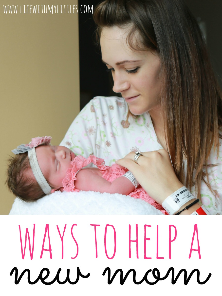Here are some easy suggestions on how to help a new mom adjust to her new life!
