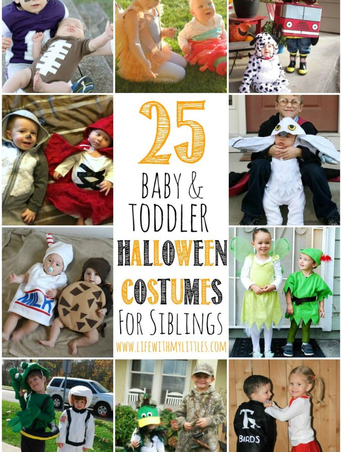 25+ Baby and Toddler Halloween Costumes for Siblings