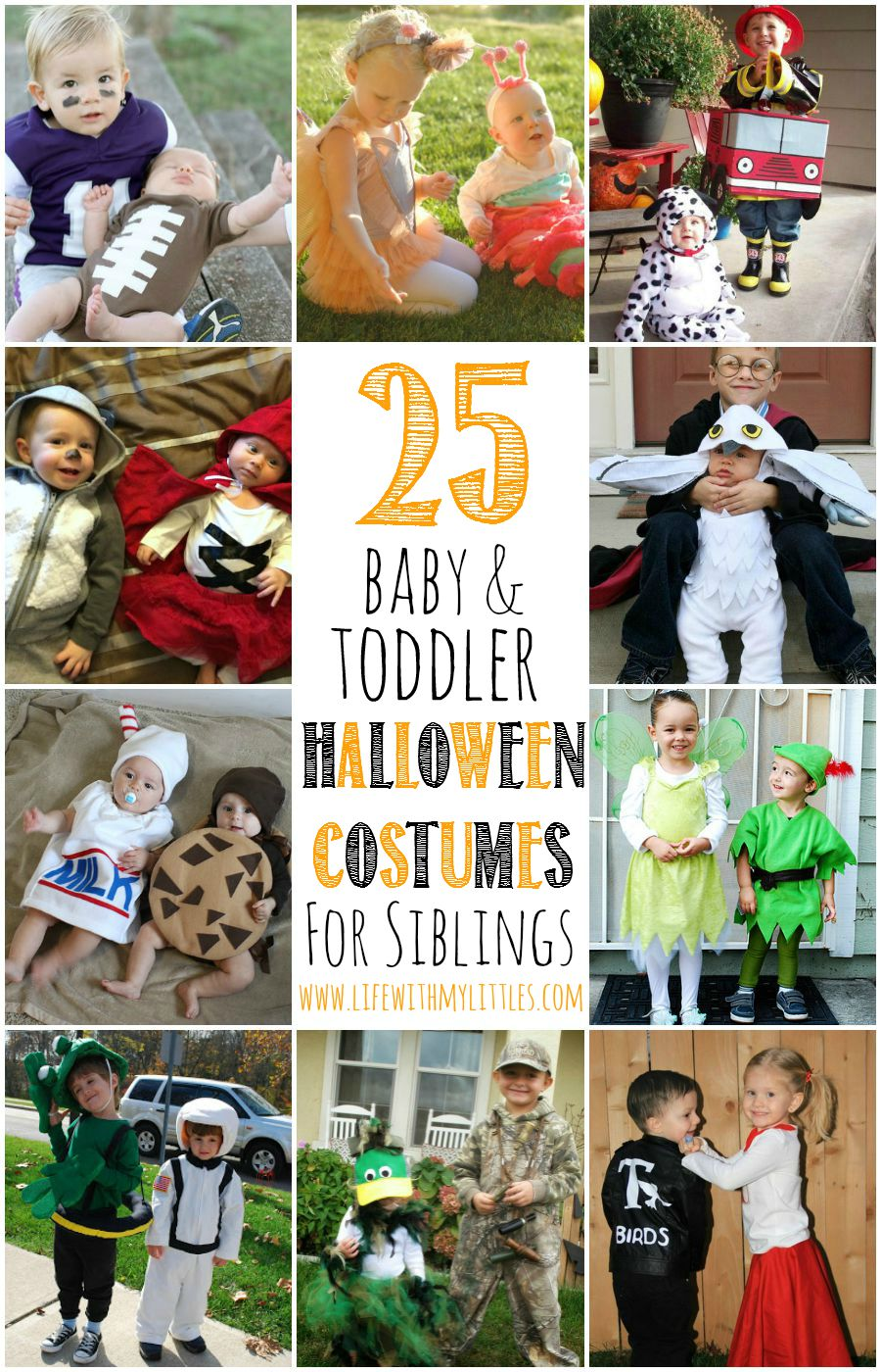 25 baby and toddler Halloween costumes for siblings. What a cute roundup of ideas!  sc 1 st  Life With My Littles & 25 Baby and Toddler Halloween Costumes for Siblings