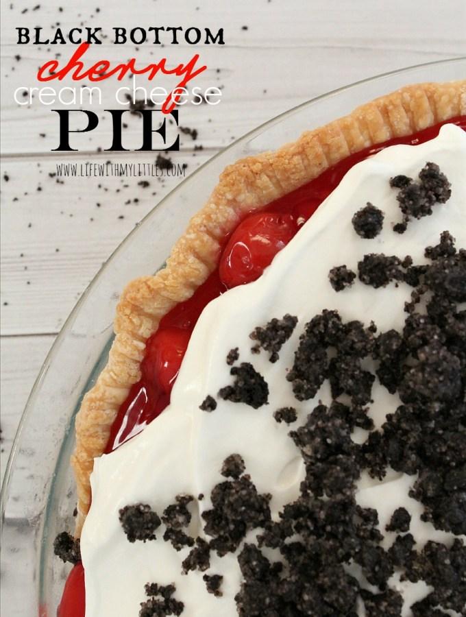 Black Bottom Cherry Cream Cheese Pie