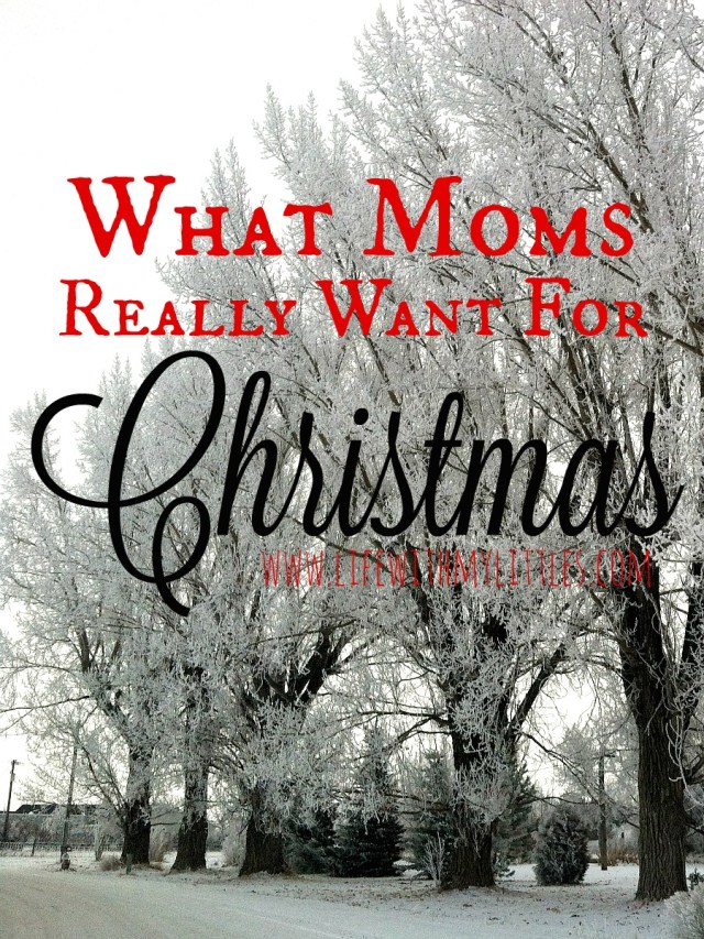 Here's an unfiltered list of what moms really want for Christmas! It's hilarious, but so true!