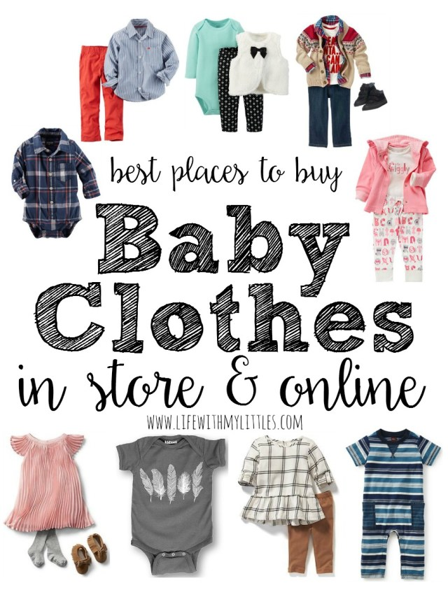 ea299918e554 Love this amazing list of the best places to buy baby clothes! If you