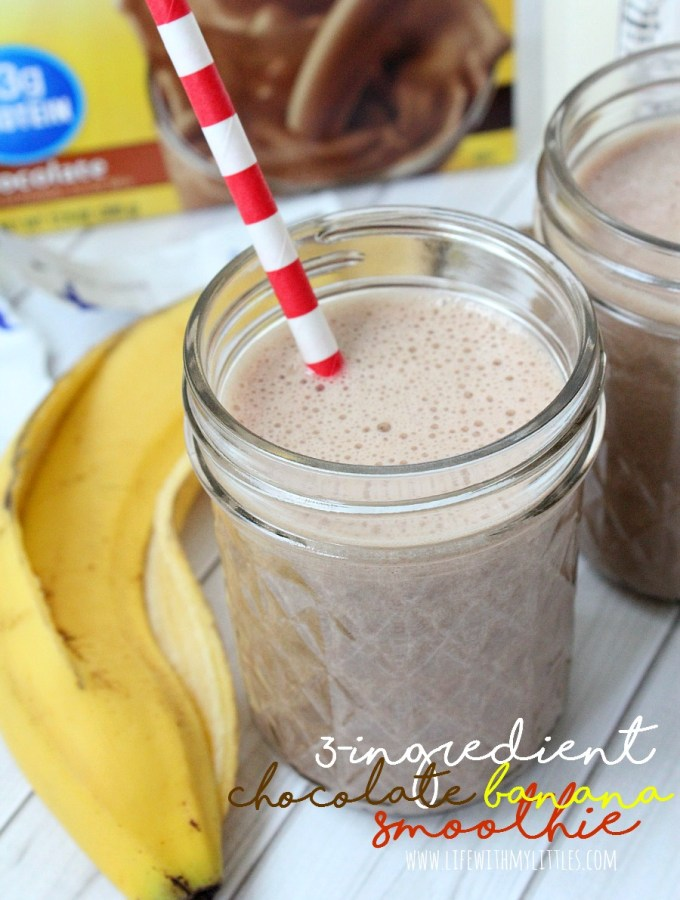 Three-Ingredient Chocolate Banana Smoothie