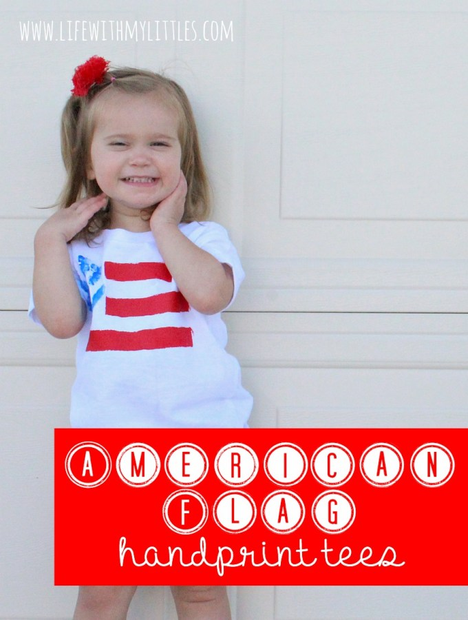 American Flag Handprint Tees