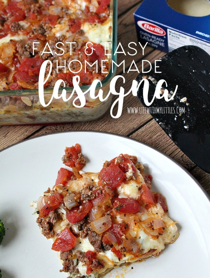 Fast and Easy Homemade Lasagna