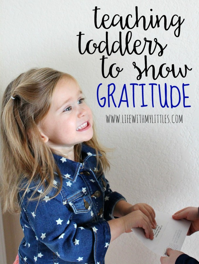 Teaching Toddlers to Show Gratitude