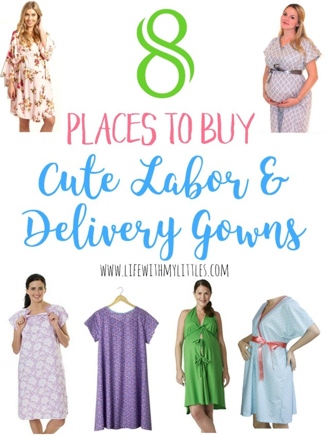 8 Places to Buy Cute Labor and Delivery Gowns - Life With My Littles