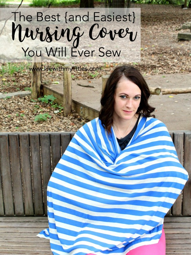 The best (and easiest) diy nursing cover you will ever sew. This really is the easiest tutorial for a full-coverage nursing cover. So much cheaper than buying a nursing poncho online, too! Five minutes and five dollars and you'll have your very own nursing cover!