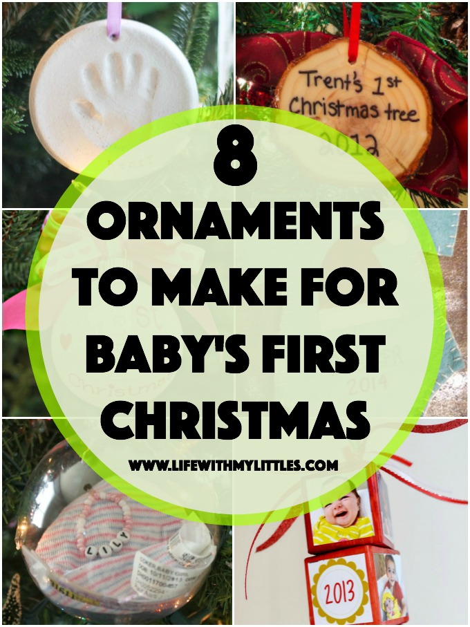 Babys first christmas ornaments you can make yourself life with these diy ornaments for babys first christmas are so cute eight easy ideas of babys solutioingenieria Choice Image