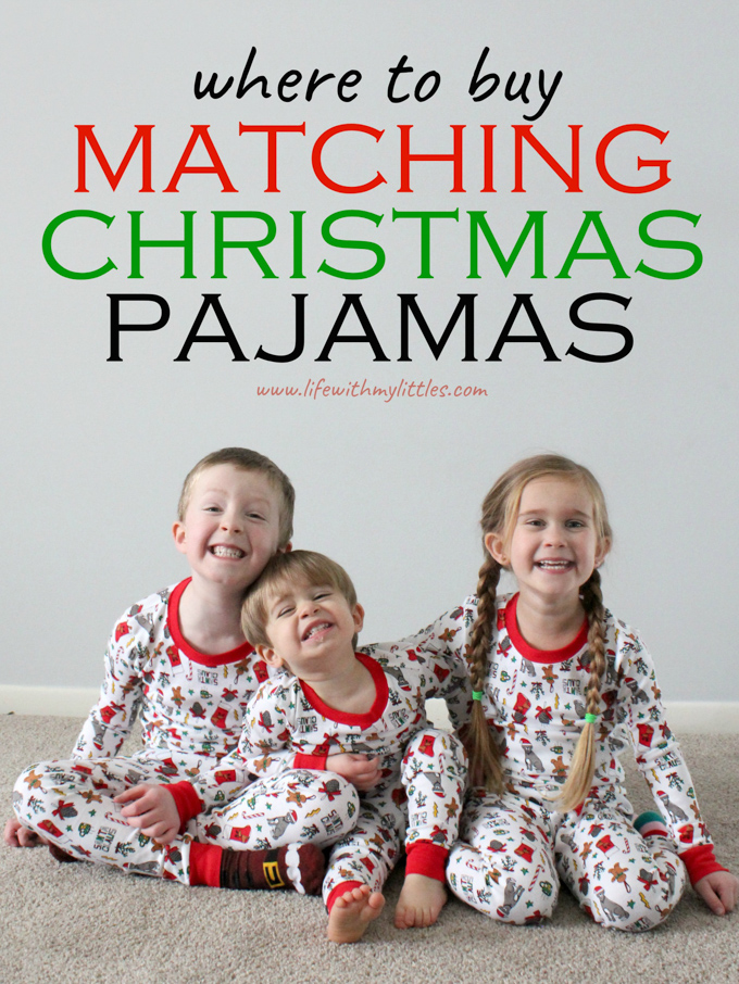 Not sure where to buy matching Christmas pajamas for your family? Here are six places with TONS of options for everyone! Great for families or just kids!