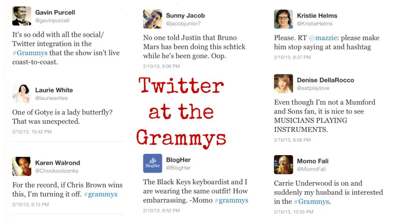 twitter goes to the grammys