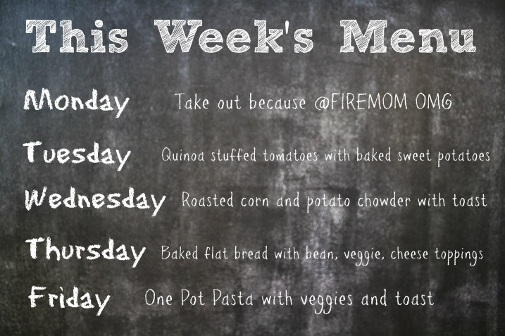 this week's menu 9.29.13