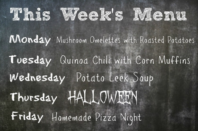 this week's menu 10.27.13