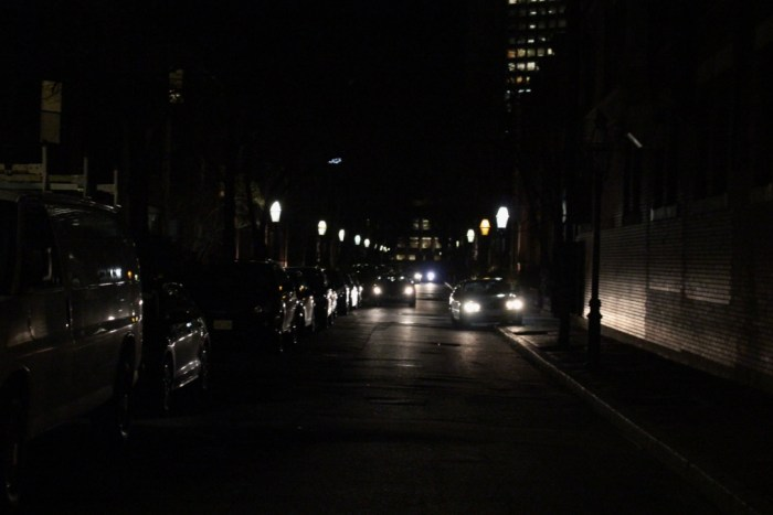 boston street at night