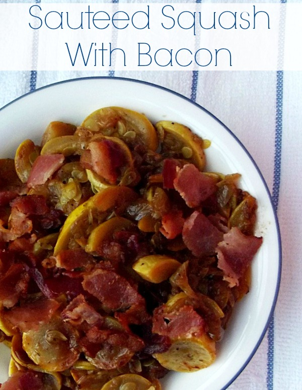 Sauteed Squash and Bacon