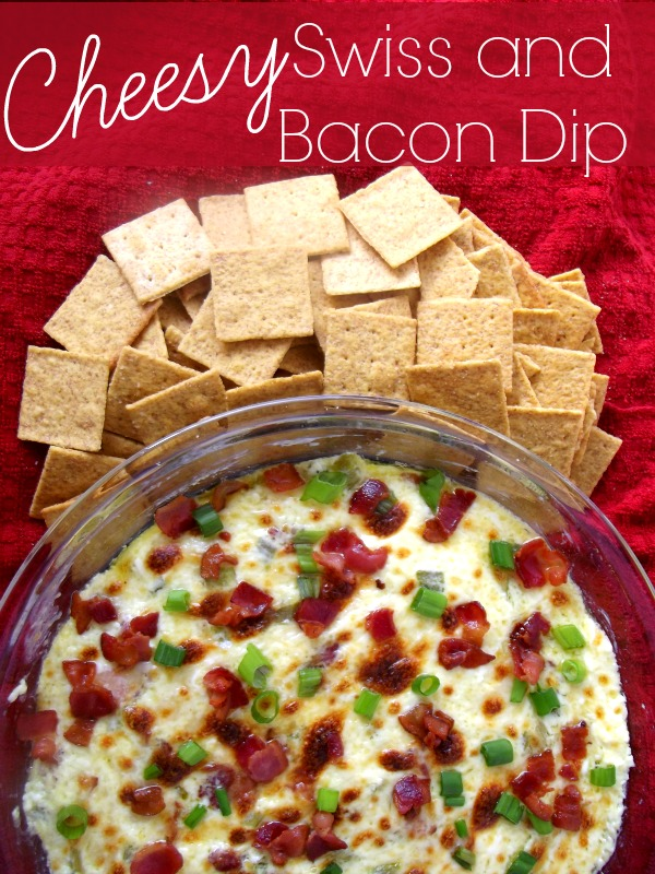 Cheesy Swiss and Bacon Dip by Life With The Crust Cut Off
