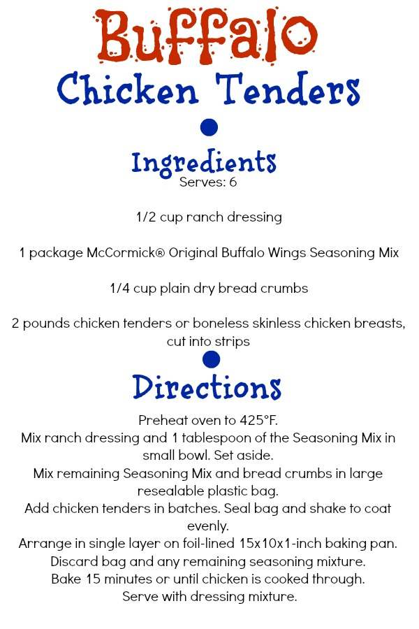 Buffalo Chicken Tender Recipe #shop #cbias