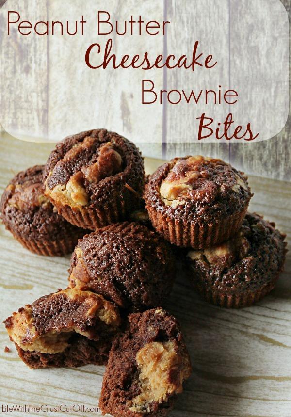 Peanut Butter Cheesecake Brownie Bites