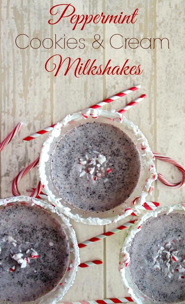 Peppermint Cookies & Cream Milkshakes #HolidayReady #shop #cbias