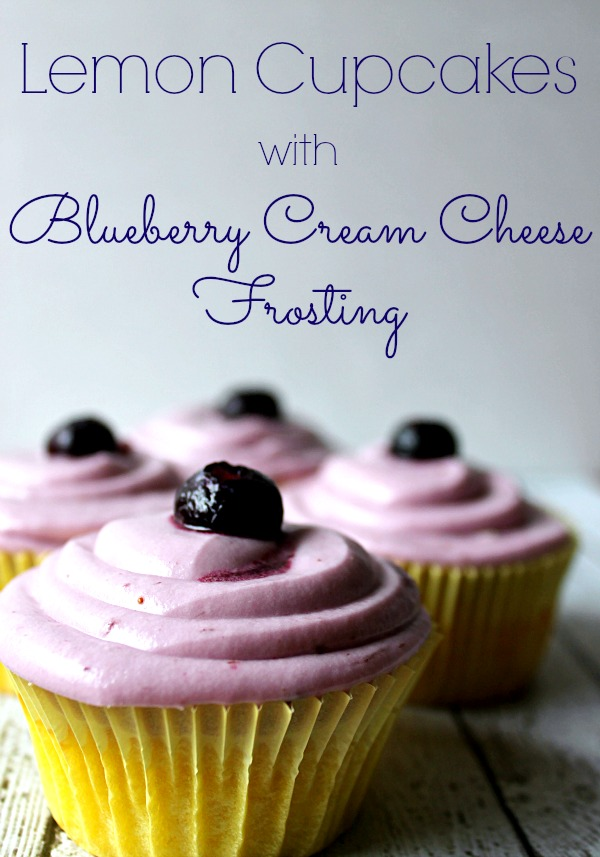 Lemon Cupcakes With Blueberry Cream Cheese Frosting1