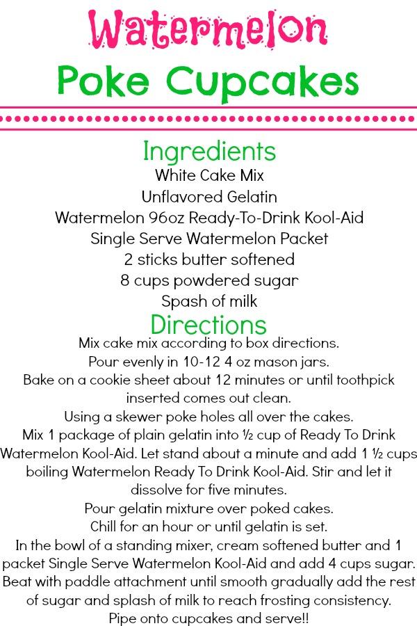 Watermelon Poke Cupcakes Recipe #KoolOff  #CollectiveBias