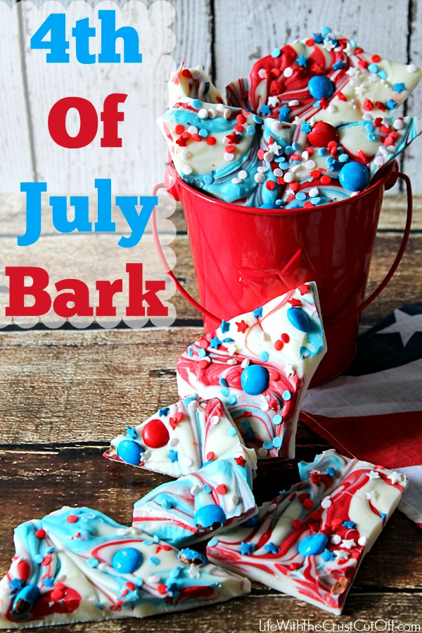 4th of July Bark. Recipe by Life With the Crust Cut Off