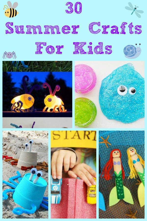 30 Summer Crafts for Kids! Compiled by Life with the Crust Off